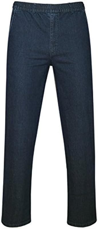 T-MODE spodnie jeansowe ze stretchem bez kieszeni cargo kolekcja jesienna: Odzież