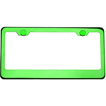 Amazon Com Plasmaglow 10122 Green Neon License Plate