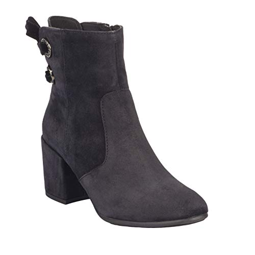 Ankle Suede Block Leather Heel Alpe Boot Navy B6O4xWw