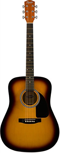 - Squier by Fender SA-150 Dreadnought Acoustic Guitar - Vintage Sunburst
