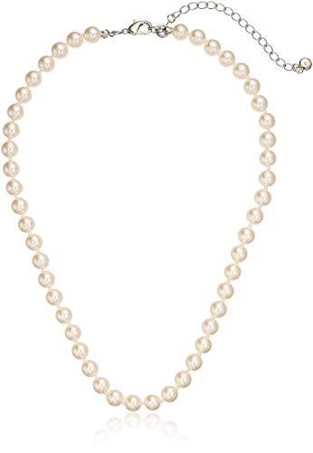 (Amazon Essentials Cream Colored Simulated Pearl Strand Necklace (8mm), 18