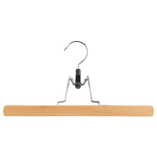 IKEA Bumerang 11.75 Long Pants Skirt Hanger, Natural Finish Wooden Hangers with Anti-rust Hook (10) by IKEA Lavinia