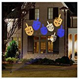 Gemmy Lightshow Hanukkah Whirl-A-Motion LED Projection Lights - - Hanukkah Craft Dreidel
