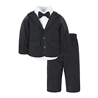 Big Elephant Baby Boys Tuxedo Suit Formal Party Set Wedding Outfit