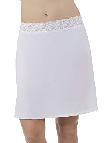 (Vassarette Women's Adjustable Waist Half Slip 11073, White Ice-18 inch, Large)