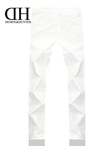 Chinos X Pantalon Hommes Séries ample 900x Classique amp;hunter Blanc Dh9010 Demon qtzw66