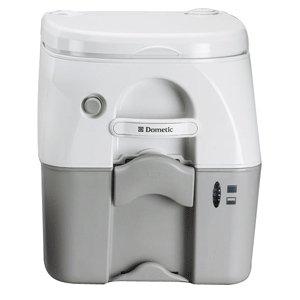 Dometic - SeaLand 975 Portable Toilet 5.0 Gallon - Grey w/Brackets Dometic 975 Portable Toilet