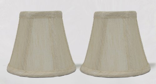 Urbanest 1100852a Set of 2, Cream Chandelier Mini Lamp Shades 5-inch, Bell, Clip On - French Country Chandelier Shades