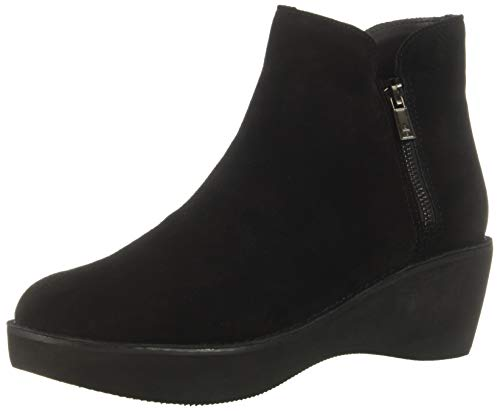 - Kenneth Cole REACTION Women's Prime Platform Bootie with Side Zip Ankle Boot, Black Suede, 8 M US