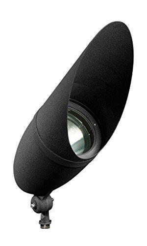 Dabmar Lighting DPR41-HOOD-B Par 38 Hooded Spot Light, Black Finish