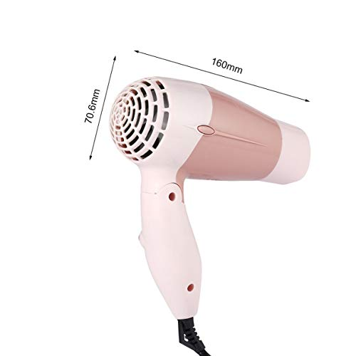 Mini Portable Foldable Handle Compact 1000W Hair Dryer Blow Dryer Hot Wind Low Noise Long Life for Outdoor Travel by Detectoy (Image #8)