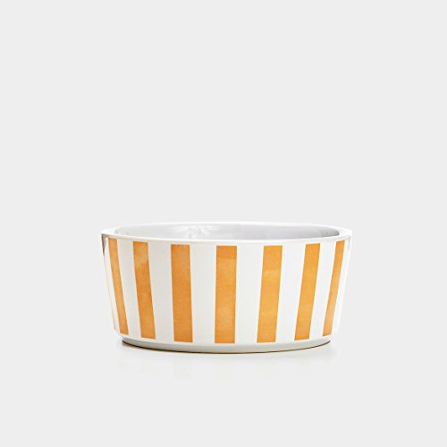 5.25in Bowl (Waggo Gold Stripey Soiree Bowl - Rose - Small - 2 x 5.25 inch)