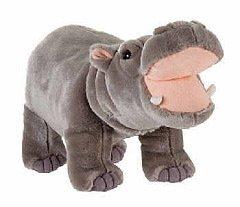 Fiesta Toys Standing Hippo Hippopotamus Plush Stuffed Animal, - Fiona Stitch
