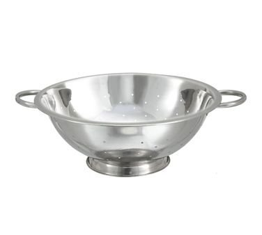 Winco COD-14 14 Qt. Colander W/ 16.5'' Bowl Diameter, Stainless - Stainless Steel Colanders-COD-14