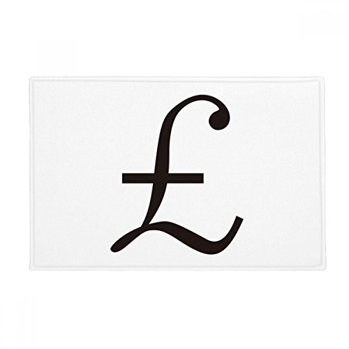 "Currency Symbol Pound Anti-slip Floor Mat Carpet Bathroom Living Room Kitchen Door 16""x30""Gift"