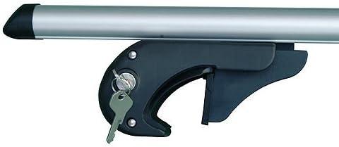 Dachreling f/ür U-B/ügel Montage oder T-Nut Montage mit 20 mm Breite hochstehender BB-EP-Menabo Einfacher Aluminium Dachtr/äger 90301218 f/ür Ford Kuga mit normaler