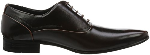 Scarpe Da Uomo Mm / One Oxford Scarpe Stringate Allacciate In Tinta Unita Nero Marrone Scuro Marrone Scuro