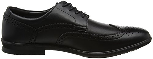 Hush Puppies Herren Cale Wing Tip Brogues Schwarz (Black)