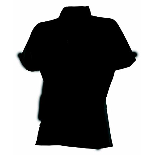 Finden & Hales Womens Piped Polo Shirts Black/Black