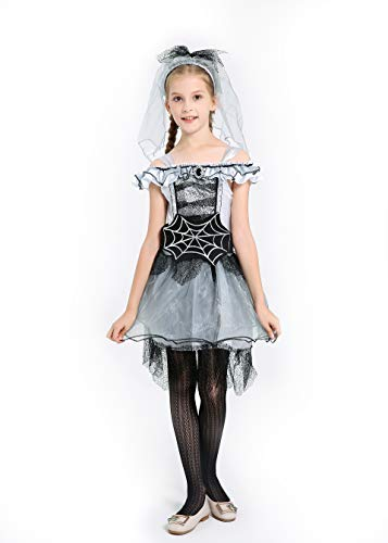 Spider Queen Costumes For Kids - Mutong Girls Spider Bride Queen Catwoman