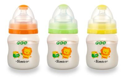 Simba BPA Free PES Natural Flow Wide Neck Feeding Bottle (Color Vary, single pc) (5 ()