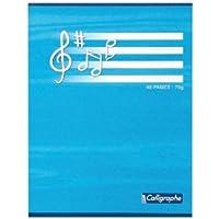 Calligraphe Cahier d'exercices pourMusique et Chant 17x 22cm Avec 48pages Couleurs assorties