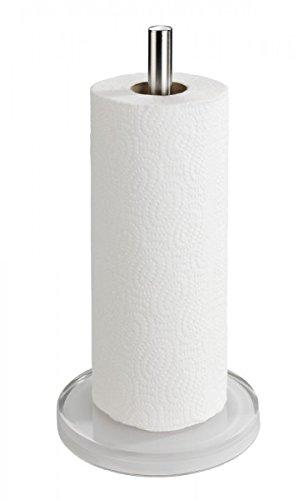 Halter für küchenrolle  WENKO Küchenrollenhalter - Edelstahl/Acryl - Rollenhalter ...