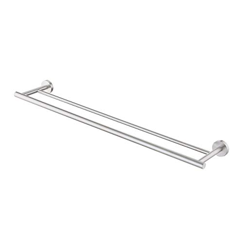 (KES Double Towel Bar SUS 304 Stainless Steel Bathroom Towel Rack 30 Inch Bath Towel Holder RUSTPROOF Wall Mount Brushed Finish, A2001S75-2 )
