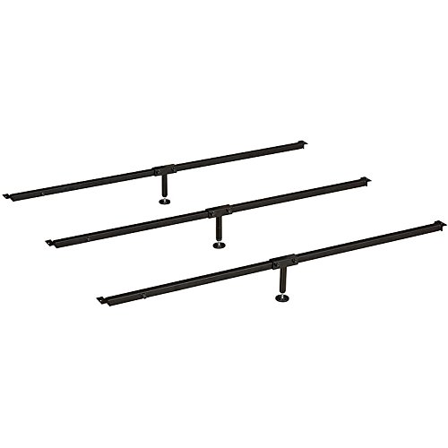 Hospitality Bed No Sag Mattress Slats - Center Support - Universal Size Adjusts From Full to Cal King - Adjustable Leg Height by Hospitality Bed