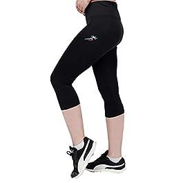 SPORTSNU Stretchable Women Capri for Sportswear Yoga Workout Gym