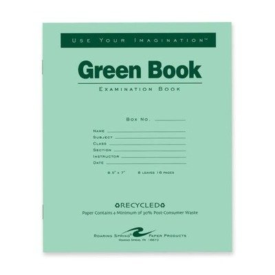 Roaring Spring Recycled Exam Book, 8.5
