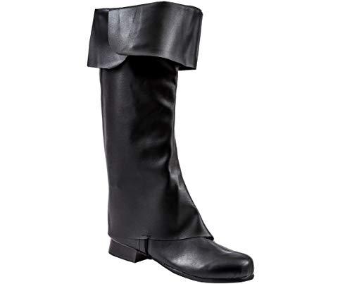 Classic Pirate Boot Toppers - Fun Costume Accessory (Accessory Black Boot Cuff)