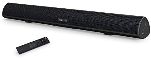 80 Watt Sound Bar, BESTISAN Sound Bars for TV of Home Theater System (Bluetooth 5.0, 34 inch, DSP, Strong Bass, Wireless Wired Connections, Bass Adjustable, Wall Mountable)