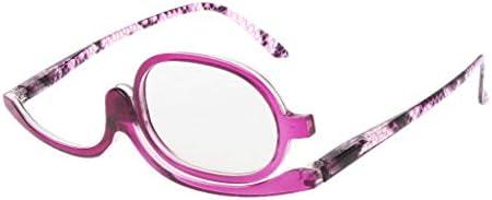 Dabixx メイクアップメガネ, 女性のメイクアップ老眼鏡メガネメガネ老眼鏡+1.00〜+4.0 - 紫の - 350