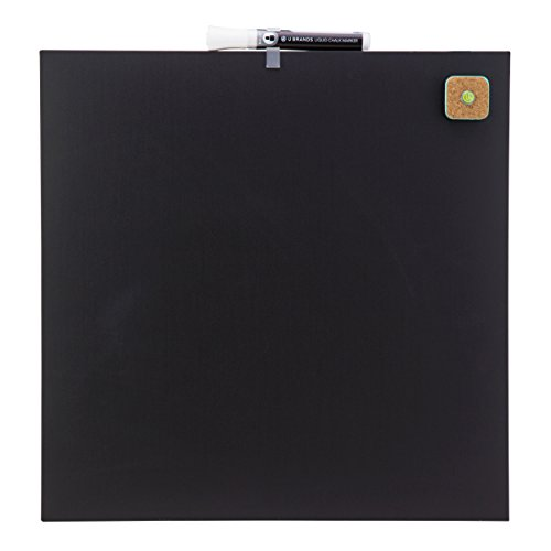 U Brands Square Frameless Magnetic Chalk Board, 14 x 14 Inches, Black