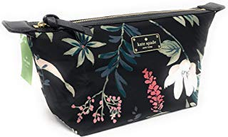 - Kate Sapde Jodi Wilson Road Botanical Cosmetics Make-Up Clutch Bag Black Multi