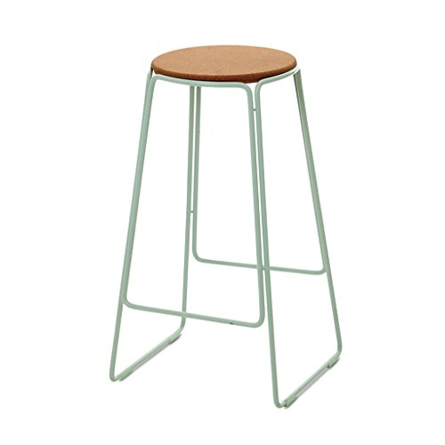 (BDLYZ Yxsd Fashion European Bar Scoop Stool Combination Bar Outdoor Iron Retro Stool Bar Chair High Stool,Durable (Color : B))