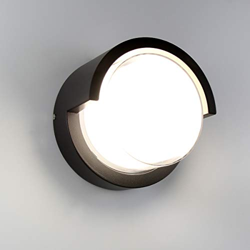 - Passica Modern Outdoor LED Wall Light 4000K White Light 12W COB IP65 Waterproof Porch Wall Sconce Black Metal Matte Sconce Wall Lamp
