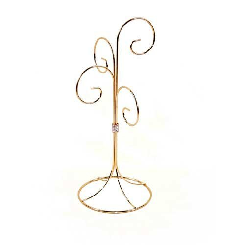 Ornament Display Stand - Four Arm Brass