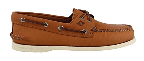Sperry Top-Sider Men's Authentic Original 2-Eye Cross Lace Boat Shoes, Tan, 10.5 D(M) US by Sperry