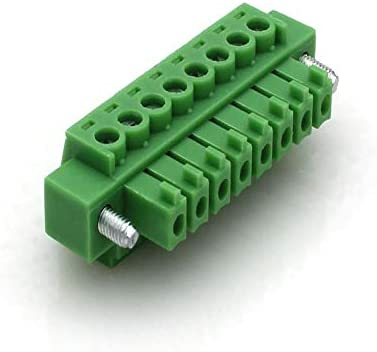 10pcs Pitch 3.81mm Right angle2 3 4 5 6P 10P Screw Plug-in PCB Terminal Block Pluggable Connector male//female 15EDGKM+RM mors Color: Green, Pins: 8P Davitu Terminals