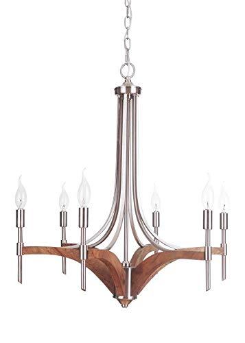Craftmade 40326-BNKWB Six Light Chandelier