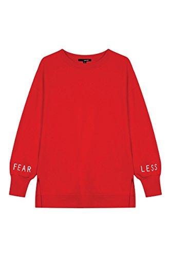 TALLY WEiJL - Sweat Rouge Fearless - Femme - Red