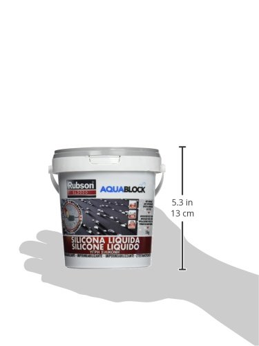 Rubson Aquablock SL3000, silicona líquida impermeabilizante color gris, 1kg: Amazon.es: Bricolaje y herramientas