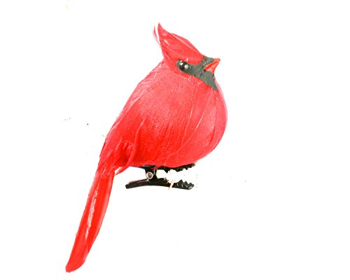 Factory Direct Craft Package of 12 Bright Red Artificial Cardinal Birds with Clips for Christmas Tree Ornaments Bird House Christmas Tree Ornament