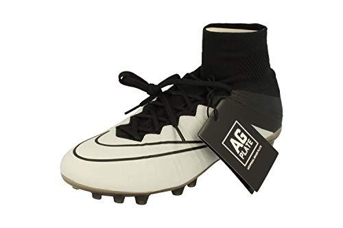 (NIKE Mercurial Superfly LTHR AG-R Mens Football Boots 747218 Soccer Cleats (US 6.5, Light Bone/Black-Black 001))