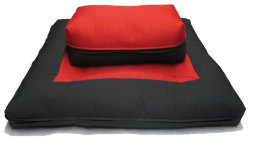Brand New Black/red Zabuton Zafu Set, Yoga, Meditation Seat Cushions, Kneeling, Sitting, Supporting Exercise Pratice Zabuton & Zafu Cushions.