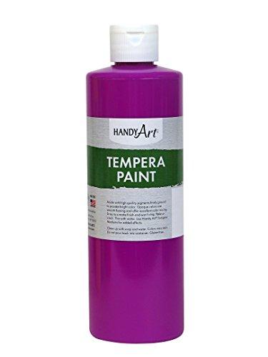 - Handy Art Tempera Paint 16 ounce, Fluorescent Violet
