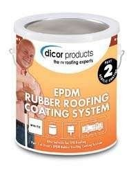 Dicor RPCRC1 White EPDM Rubber Roof Coating - 1 (Epdm Rubber Roofing)