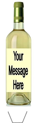 Novelty Personalised White Wine Bottle 12 Edible Stand up wafer paper cake toppers (Please leave personalisation as Gift Message) 5 - 10 BUSINESS DAYS DELIVERY FROM ()
